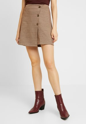 ONLANNIE  - Wrap skirt - pure cashmere/ginger bread