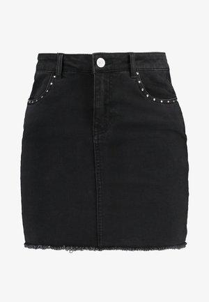 ONLCORRY STUD SKIRT - Denim skirt - black denim