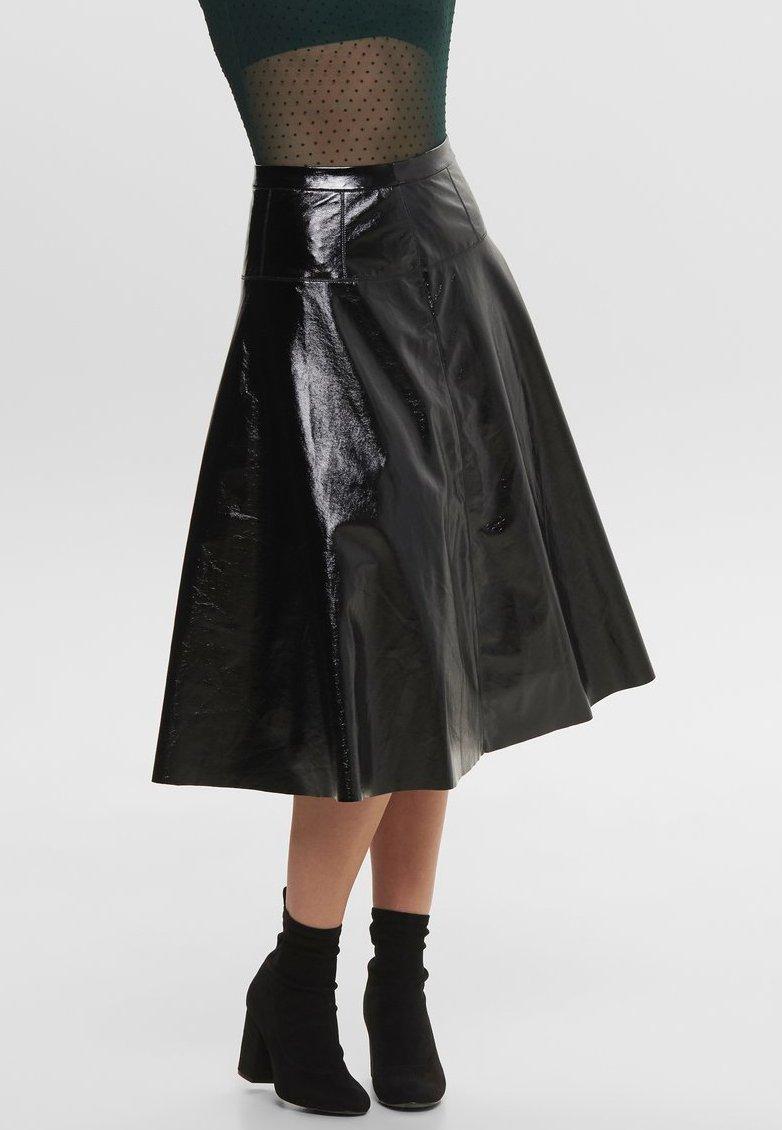 ONLY - LACK - Jupe trapèze - black