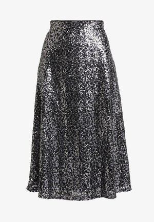 ONLVIVA SKIRT - Gonna a campana - black/silver