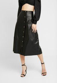 ONLY - ONLJANE MIDI SKIRT - A-line skirt - black - 0