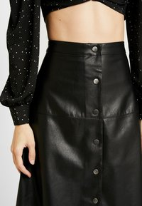 ONLY - ONLJANE MIDI SKIRT - A-line skirt - black - 4
