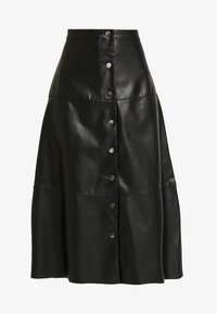 ONLY - ONLJANE MIDI SKIRT - A-line skirt - black - 3