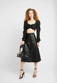 ONLY - ONLJANE MIDI SKIRT - A-line skirt - black - 1
