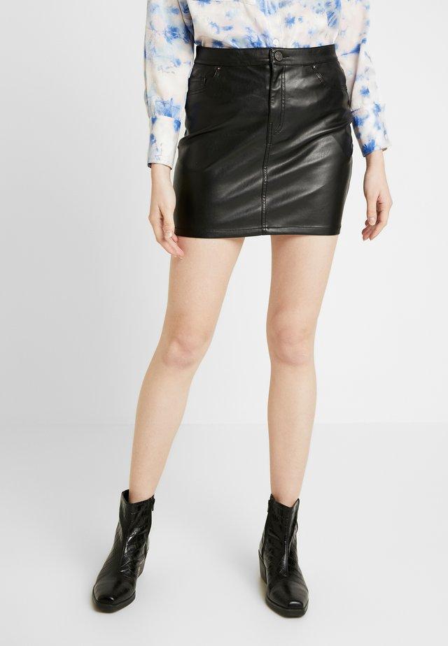 ONLNORMA SKIRT - Minifalda - black