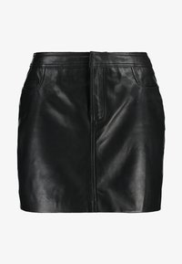 ONLY - ONLLENA LEATHER SHORT SKIRT  - Falda de tubo - black - 3