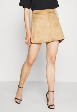 ONLLINEA BONDED SKIRT  - A-Linien-Rock - toasted coconut