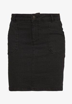 ONLANNEK WORKER SKIRT - Pouzdrová sukně - black denim