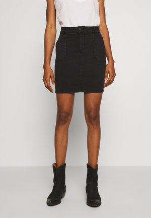 ONLANNEK WORKER SKIRT - Falda de tubo - black denim