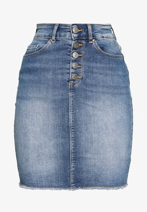 ONLBLUSH RAW - Jeansskjørt - light blue denim