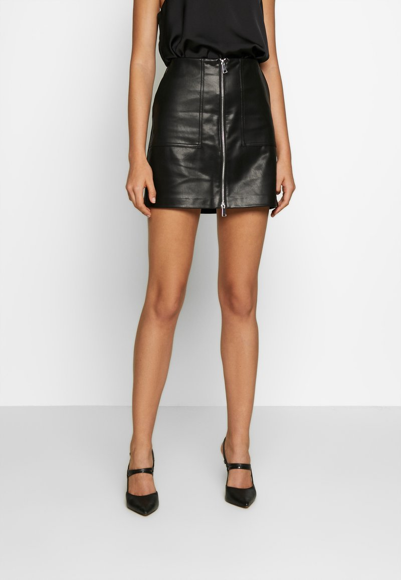 ONLY - ONLKYLIE MORGAN SKIRT - Minifalda - black