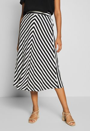 ONLLUMA MIDI SKIRT - A-line skirt - bright white/black