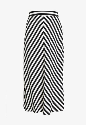 ONLLUMA MIDI SKIRT - A-line skirt - bright white/black