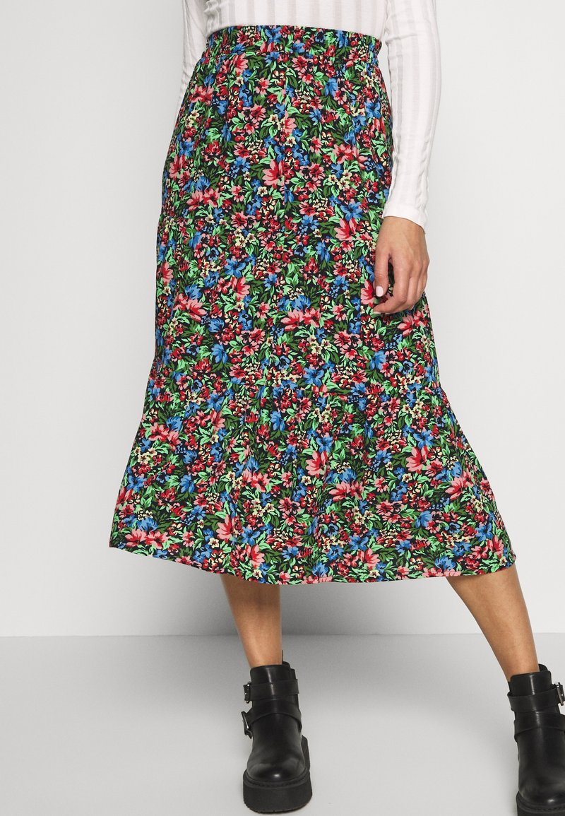 ONLY - ONLFLORAL LONG SKIRT - A-line skjørt - night sky