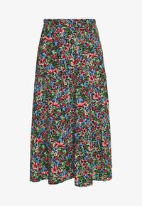 ONLY - ONLFLORAL LONG SKIRT - A-line skjørt - night sky - 3