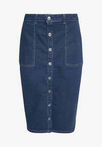 ONLY - ONLFLAKE SLIM SKIRT - Pouzdrová sukně - medium blue denim - 3