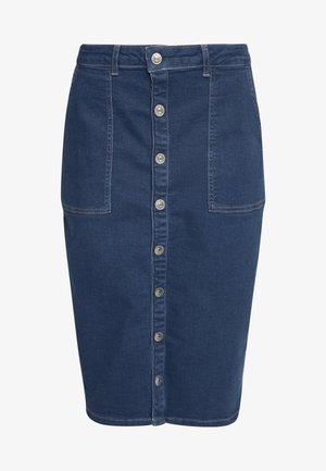 ONLFLAKE SLIM SKIRT - Falda de tubo - medium blue denim