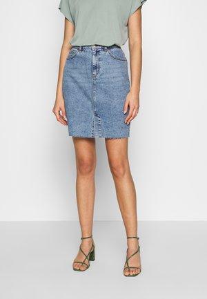 ONLEMILY LONG SKIRT - Gonna di jeans - light blue denim