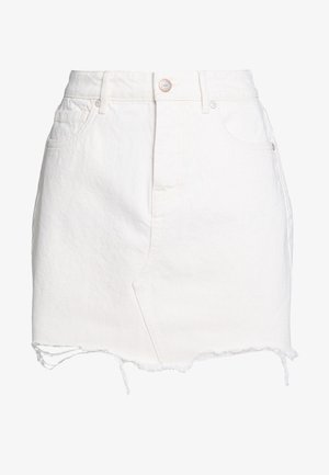 ONLSKY SKIRT RAW EDGE - Jeanskjol - ecru