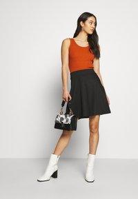 ONLY - ONLVIGGA SKATER SKIRT - A-line skirt - black - 1