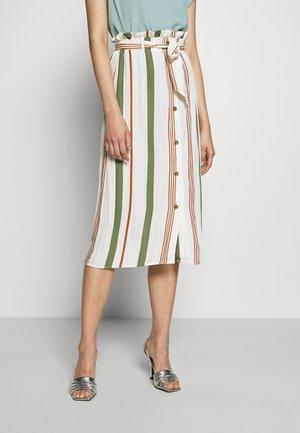 ONLSUMMER SKIRT - A-line skirt - oyster gray/rust/green