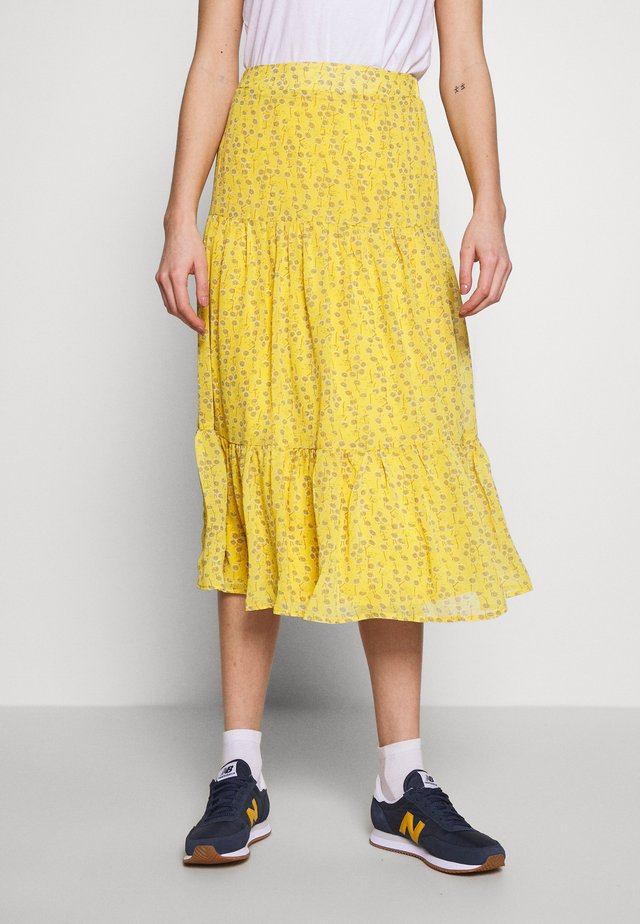 ONLSUNNY MIDI SKIRT - A-snit nederdel/ A-formede nederdele - misted yellow