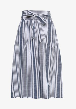 ONLLAVANA STRIPE DNM SKIRT - A-linjainen hame - cloud dancer/dark blue