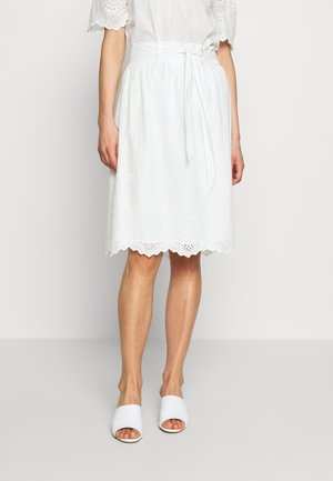 ONLSHERY LIFE MIDI - A-line skirt - cloud dancer