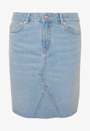 ONLFAN SKIRT RAW EDGE  - Spódnica jeansowa - light blue denim