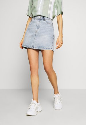 ONLROSE LIFE ASHAPE SKIRT - Denim skirt - light blue denim