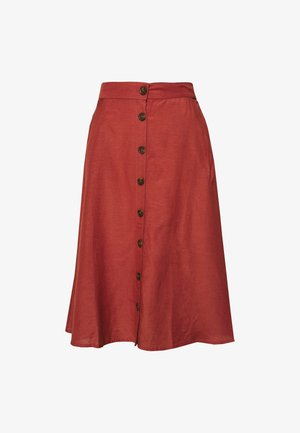 ONLVIVA LIFE NEW BUTTON SKIRT  - A-line skirt - apple butter