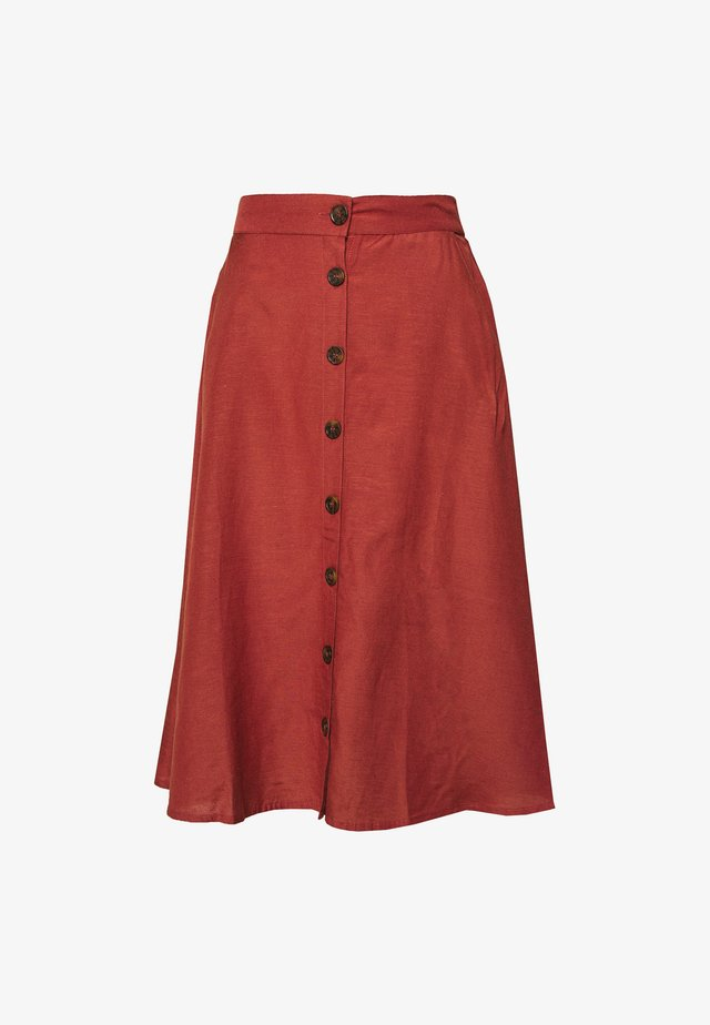 ONLVIVA LIFE NEW BUTTON SKIRT  - Falda acampanada - apple butter