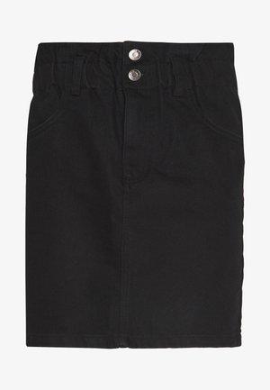 ONLMILLIE MINI PAPER SKIRT - Denimová sukně - black