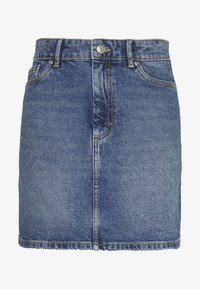 ONLY - ONLROSE LIFE ASHAPE SKIRT - Farkkuhame - medium blue denim - 4