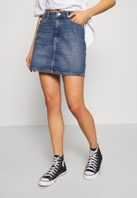 ONLY - ONLROSE LIFE ASHAPE SKIRT - Farkkuhame - medium blue denim - 3
