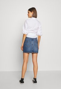 ONLY - ONLROSE LIFE ASHAPE SKIRT - Farkkuhame - medium blue denim - 2