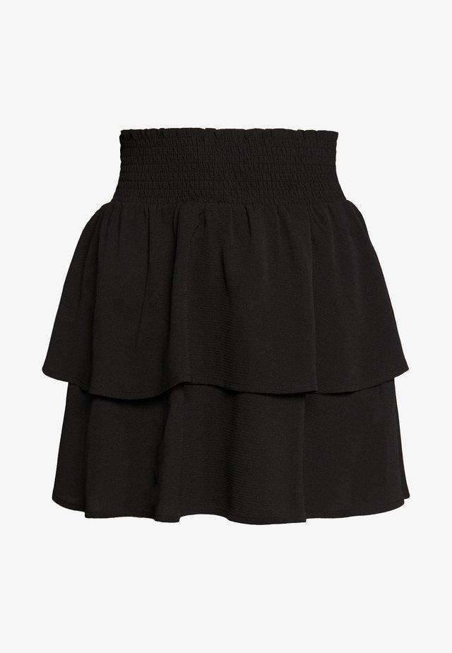 ONLNOVA LUX SMOCK  - Pliceret nederdel /Nederdele med folder - black