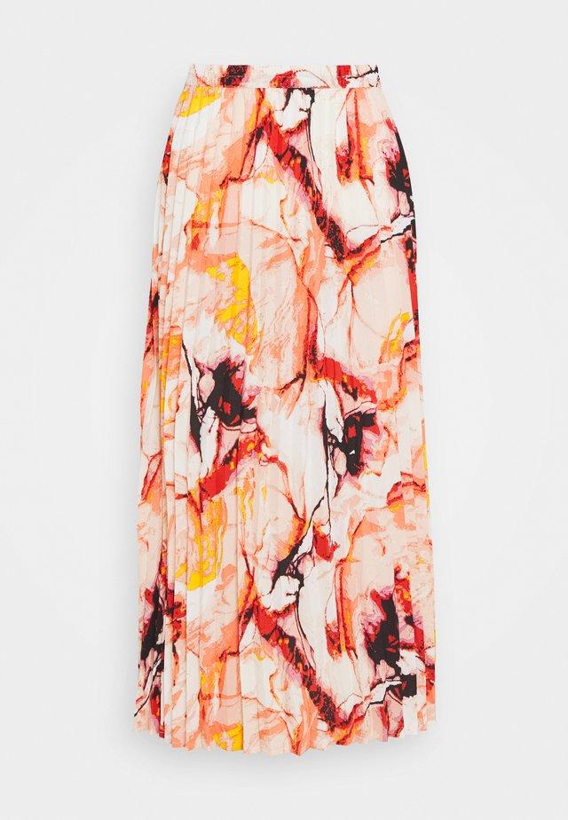 ONLALMA LIFE PLISSE SKIRT - A-line skirt - cloud dancer