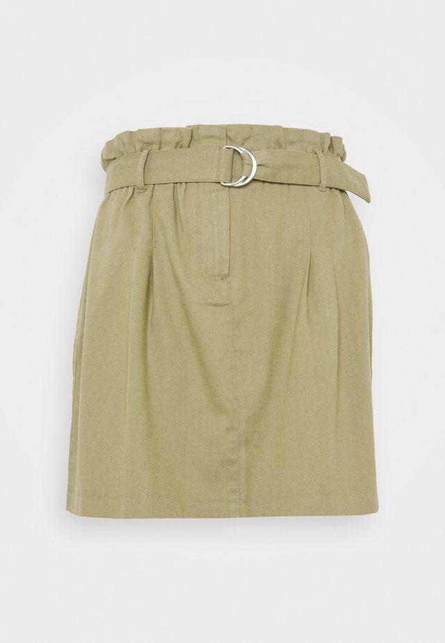 ONLNELDA SHORT SKIRT - A-line skirt - martini olive
