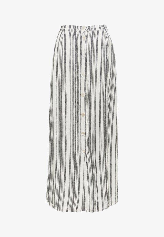 ONLALFINA - Maxi skirt - white/dark blue