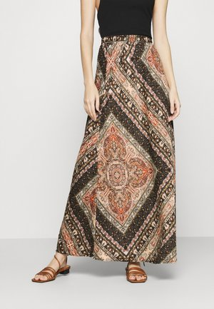 ONLCECILIA ANCLE SKIRT WVN - Maxi skirt - hot sauce/spice scarf