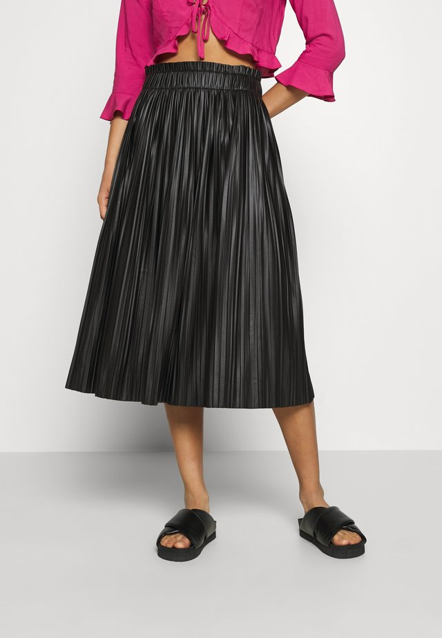 ONLMIE MIDI PLEAT SKIRT - Falda acampanada - black