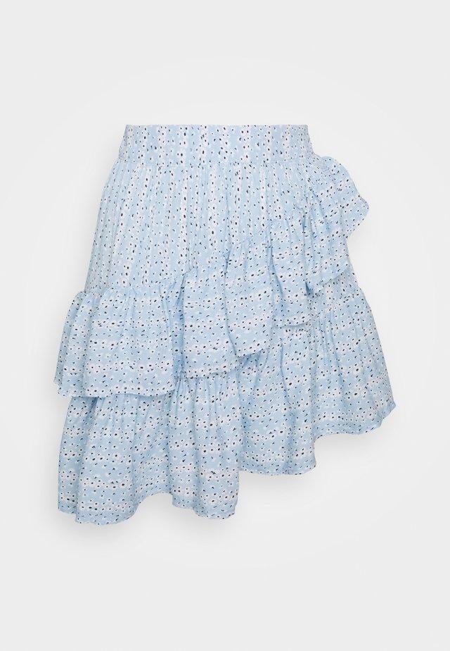 ONLADDIE SHORT SKIRT - A-lijn rok - cashmere blue