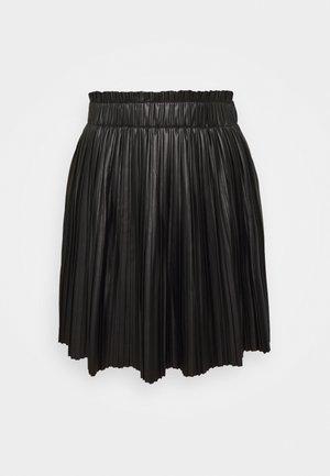 ONLMIE PLEAT SKIRT - Minijupe - black