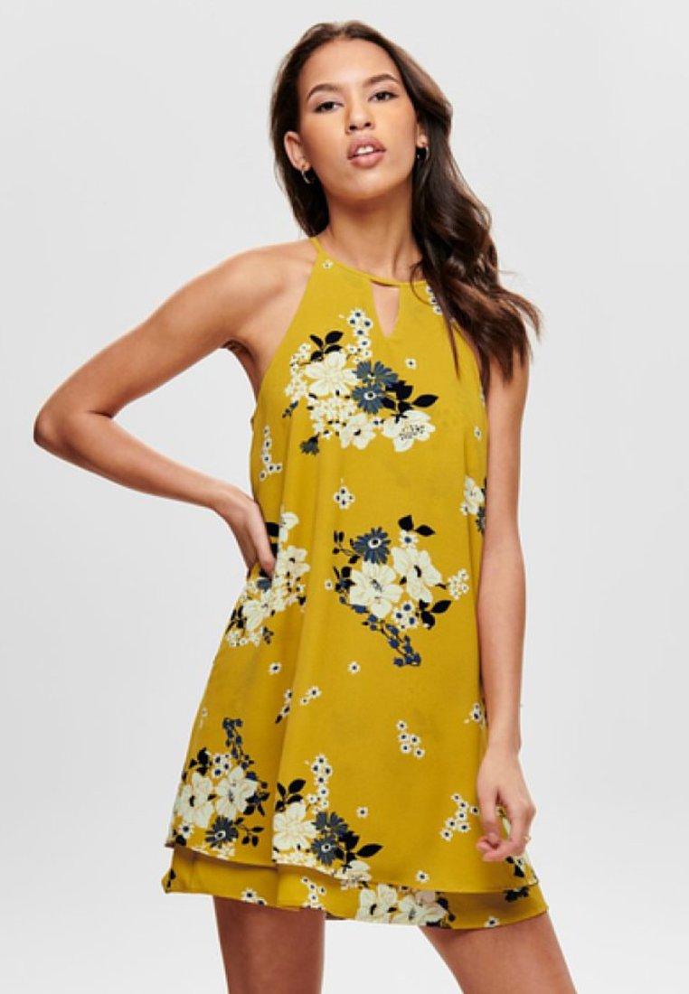ONLY - MYRINA - Freizeitkleid - vibrant yellow