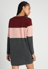 ONLY - NEW BLOCK DRESS - Jumper dress - chocolate truffle/w. misty rose mel - 2