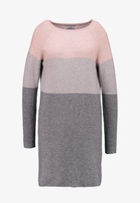 ONLY - NEW BLOCK DRESS - Vestido de punto - mahogany rose/w melange/light grey - 4