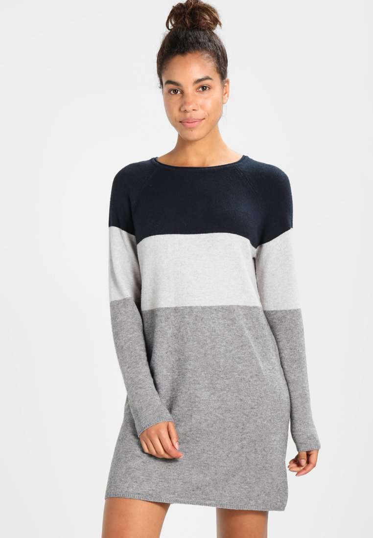 ONLY - NEW BLOCK DRESS - Jumper dress - light grey melange