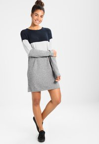 ONLY - NEW BLOCK DRESS - Jumper dress - light grey melange - 1