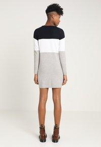 ONLY - NEW BLOCK DRESS - Jumper dress - night sky/w. white melange/lgm - 2